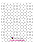 ".75"" CIRCLE  CLEAR GLOSS LAMINATE Thumbnail #1"