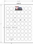 "1"" CIRCLE BROWN KRAFT LABELS Thumbnail #3"