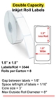"1.5"" x 1.5"" INKJET DOUBLE CAPACITY ROLL LABELS Thumbnail #1"