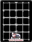 "1.625"" x 1.8125""  WHITE SEMI-GLOSS for LASER Thumbnail #1"