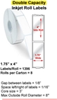 "1.75"" x 4"" INKJET DOUBLE CAPACITY ROLL LABELS Thumbnail #1"