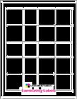 """1.8"""" x 1.8 CLEAR GLOSS LAMINATE Thumbnail #1"""
