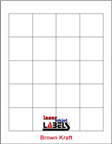 "1.8"" x 1.8"" SQUARE BROWN KRAFT LABELS Thumbnail #1"