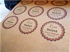 "2.5"" CIRCLE BROWN KRAFT LABELS Thumbnail #2"