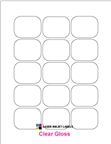 """2.0625"""" x 1.625"""" CLEAR LASER GLOSSY LABELS Thumbnail #1"""