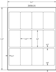 "2"" x 3"" RECTANGLE REMOVABLE WHITE LABELS Thumbnail #3"