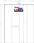 """2.125"""" x 11"""" CLEAR LASER GLOSSY LABELS Thumbnail #3"""
