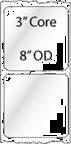 "2.5"" x 2.5"" INKJET DOUBLE CAPACITY ROLL LABELS Thumbnail"
