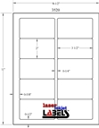 """3.5"""" x 2"""" CLEAR LASER GLOSSY LABELS Thumbnail #3"""