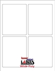 "3.75"" x 4.75"" RECTANGLE WHITE POLY LASER LABELS Thumbnail #1"
