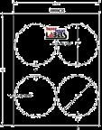 """4"""" CIRCLE CLEAR GLOSS LAMINATE Thumbnail #2"""