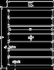 """8"""" x 1.3125"""" WHITE SEMI-GLOSS for INKJET Thumbnail #3"""