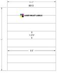 """8.5"""" x 1.375"""" WHITE SEMI-GLOSS for INKJET Thumbnail #3"""