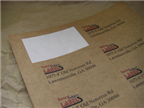 "1.625"" x 1.8125"" RECTANGLE BROWN KRAFT LABELS Thumbnail #2"