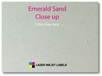 "4"" x 2"" SQUARED OVAL EMERALD SAND LABELS Thumbnail #3"
