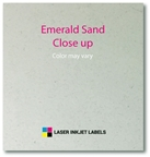 "4"" x 2"" SQUARED OVAL EMERALD SAND LABELS Thumbnail #4"