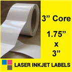 "1.75"" x 3"" INKJET ROLL LABELS Thumbnail #2"