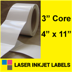 "4"" x 11"" INKJET ROLL LABELS Thumbnail #2"