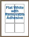 "3"" x 3"" RECTANGLE REMOVABLE WHITE LABELS Thumbnail"