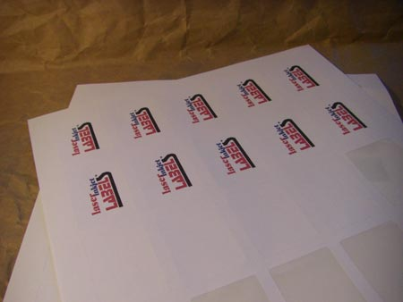 White labels are economical and great for everyday uses.