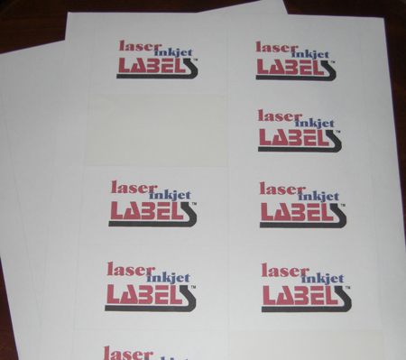 White labels with permanent adhesive